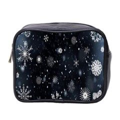 Snowflake Snow Snowing Winter Cold Mini Toiletries Bag 2-Side