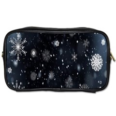 Snowflake Snow Snowing Winter Cold Toiletries Bags 2 Side