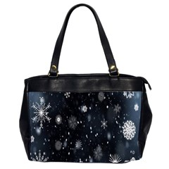 Snowflake Snow Snowing Winter Cold Office Handbags (2 Sides)
