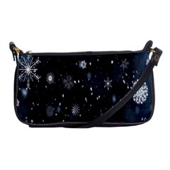Snowflake Snow Snowing Winter Cold Shoulder Clutch Bags