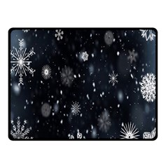Snowflake Snow Snowing Winter Cold Fleece Blanket (Small)