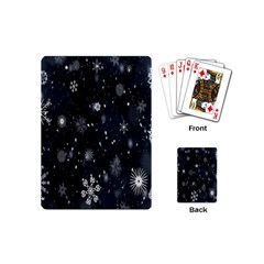Snowflake Snow Snowing Winter Cold Playing Cards (Mini)