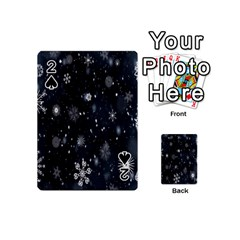Snowflake Snow Snowing Winter Cold Playing Cards 54 (Mini)