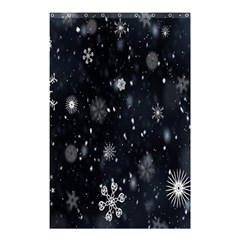 Snowflake Snow Snowing Winter Cold Shower Curtain 48  x 72  (Small)
