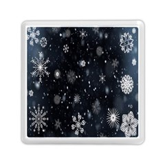 Snowflake Snow Snowing Winter Cold Memory Card Reader (Square)