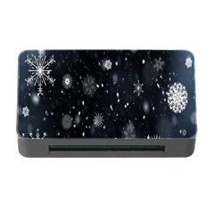 Snowflake Snow Snowing Winter Cold Memory Card Reader with CF