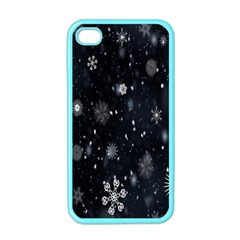 Snowflake Snow Snowing Winter Cold Apple Iphone 4 Case (color)