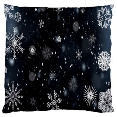 Snowflake Snow Snowing Winter Cold Large Cushion Case (Two Sides)