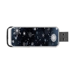 Snowflake Snow Snowing Winter Cold Portable Usb Flash (two Sides)
