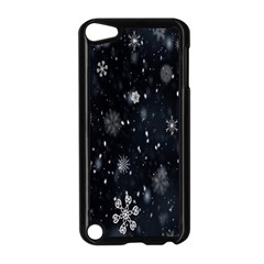 Snowflake Snow Snowing Winter Cold Apple Ipod Touch 5 Case (black)