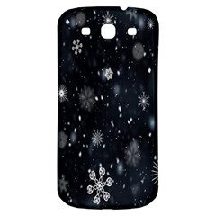 Snowflake Snow Snowing Winter Cold Samsung Galaxy S3 S Iii Classic Hardshell Back Case