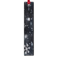 Snowflake Snow Snowing Winter Cold Large Book Marks