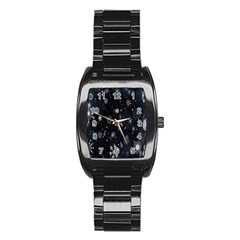 Snowflake Snow Snowing Winter Cold Stainless Steel Barrel Watch