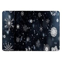 Snowflake Snow Snowing Winter Cold Samsung Galaxy Tab 8.9  P7300 Flip Case
