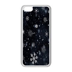 Snowflake Snow Snowing Winter Cold Apple Iphone 5c Seamless Case (white)