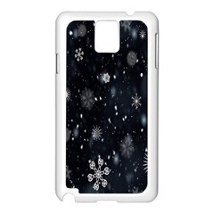 Snowflake Snow Snowing Winter Cold Samsung Galaxy Note 3 N9005 Case (white)