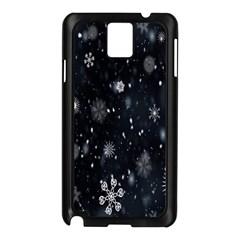 Snowflake Snow Snowing Winter Cold Samsung Galaxy Note 3 N9005 Case (Black)