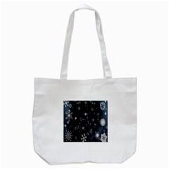Snowflake Snow Snowing Winter Cold Tote Bag (White)