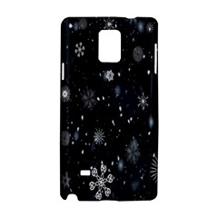 Snowflake Snow Snowing Winter Cold Samsung Galaxy Note 4 Hardshell Case