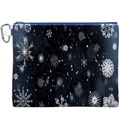 Snowflake Snow Snowing Winter Cold Canvas Cosmetic Bag (XXXL)