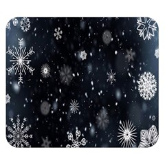 Snowflake Snow Snowing Winter Cold Double Sided Flano Blanket (Small)