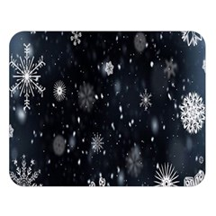 Snowflake Snow Snowing Winter Cold Double Sided Flano Blanket (Large)