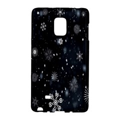 Snowflake Snow Snowing Winter Cold Galaxy Note Edge