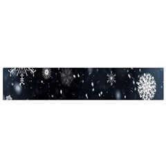 Snowflake Snow Snowing Winter Cold Flano Scarf (Small)