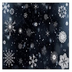 Snowflake Snow Snowing Winter Cold Large Satin Scarf (Square)
