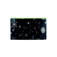 Snowflake Snow Snowing Winter Cold Cosmetic Bag (XS)