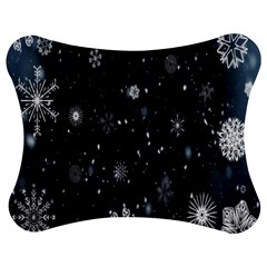 Snowflake Snow Snowing Winter Cold Jigsaw Puzzle Photo Stand (Bow)