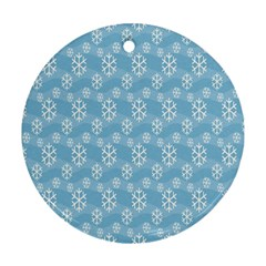 Snowflakes Winter Christmas Ornament (round)