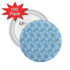 Snowflakes Winter Christmas 2.25  Buttons (100 pack)