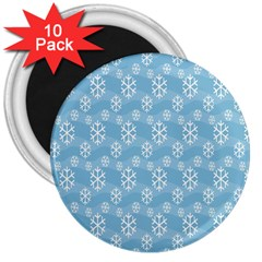 Snowflakes Winter Christmas 3  Magnets (10 Pack)