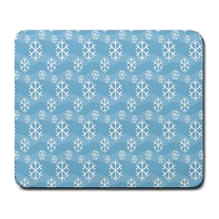 Snowflakes Winter Christmas Large Mousepads