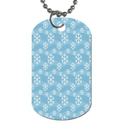 Snowflakes Winter Christmas Dog Tag (one Side)