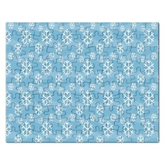 Snowflakes Winter Christmas Rectangular Jigsaw Puzzl