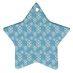 Snowflakes Winter Christmas Star Ornament (Two Sides)