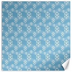 Snowflakes Winter Christmas Canvas 12  x 12