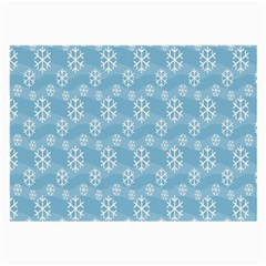 Snowflakes Winter Christmas Large Glasses Cloth (2-Side)