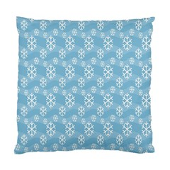 Snowflakes Winter Christmas Standard Cushion Case (two Sides)