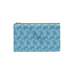 Snowflakes Winter Christmas Cosmetic Bag (Small)