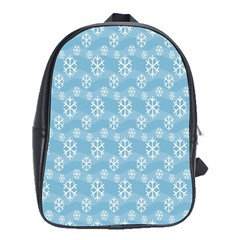 Snowflakes Winter Christmas School Bags(large)