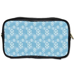 Snowflakes Winter Christmas Toiletries Bags