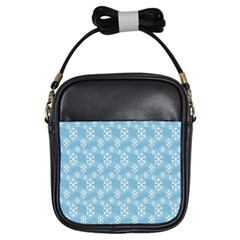 Snowflakes Winter Christmas Girls Sling Bags