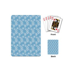 Snowflakes Winter Christmas Playing Cards (Mini)