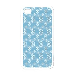 Snowflakes Winter Christmas Apple iPhone 4 Case (White)