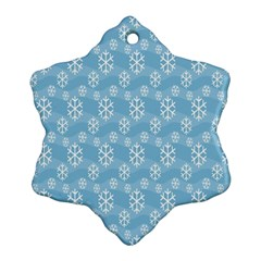 Snowflakes Winter Christmas Snowflake Ornament (two Sides)