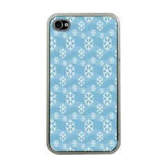 Snowflakes Winter Christmas Apple iPhone 4 Case (Clear)