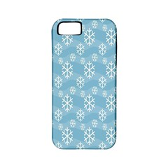 Snowflakes Winter Christmas Apple iPhone 5 Classic Hardshell Case (PC+Silicone)